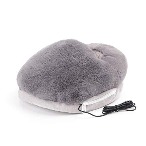 Coospy Artefatto - Calentador de pies USB con calefacción, para dormir, invierno, oficina, calefacción eléctrica (gris)