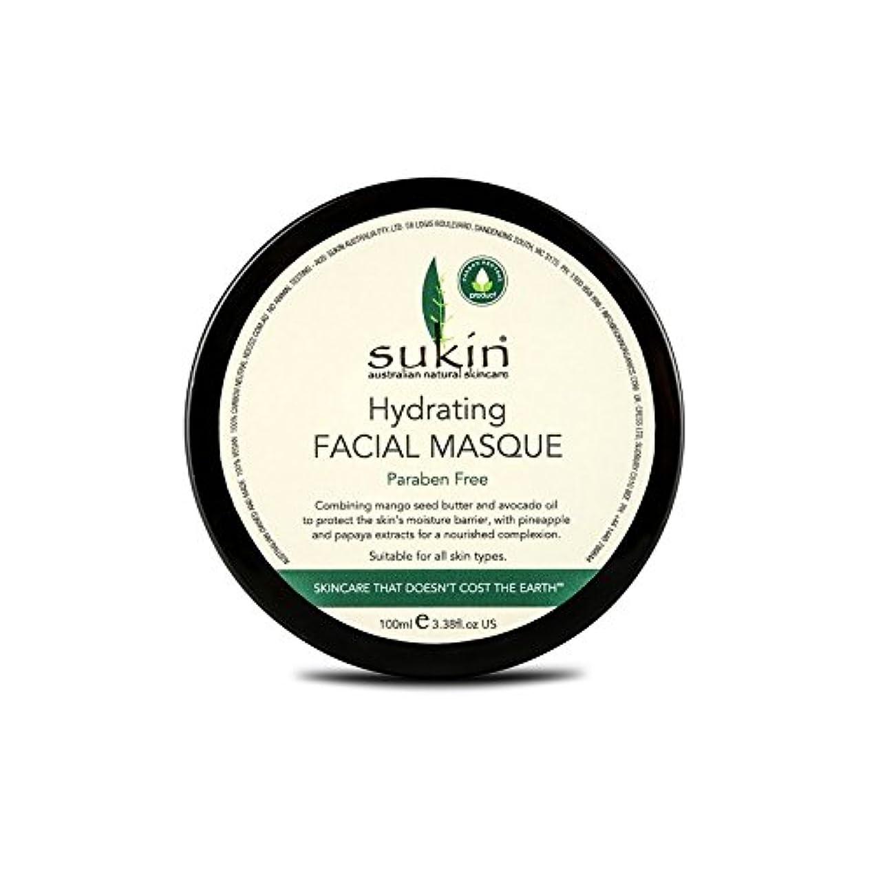 化学者フェードアウト真実にSukin Hydrating Facial Masque 100ml (Pack of 6) - 水和顔の仮面劇の100ミリリットルを x6 [並行輸入品]