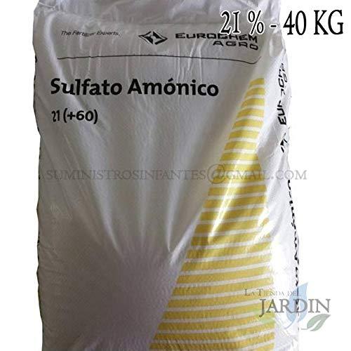 Suinga Sulfato AMONICO 21%, Saco de 40 Kg de abono. El azufre es un nutriente indispensable en Todos los Cultivos. Maxima Calidad