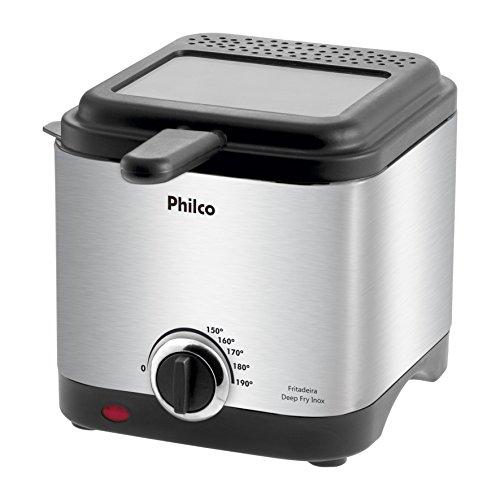 Fritadeira deep fry, Deep fry inox, 1.8L, Preto, 220v, Philco