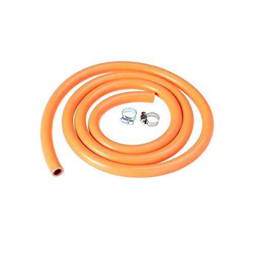 YUNB Goma Tubo de Gas de Gas Natural licuado Estufa Calentador de Agua Regulador de Gas Desconecte el Conjunto de la Manguera con 2 Accesorios 150 cm
