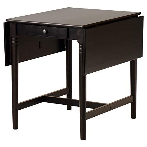 Ikea Ingatorp, Drop-Leaf Tafel, Zwart-Bruin