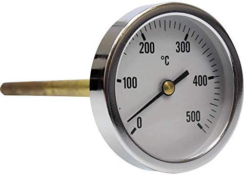 TERMOMED Termómetro para Horno de leña, Escala de 0 a 500ºC con Vaina de 20,30 o 50 cm (30)