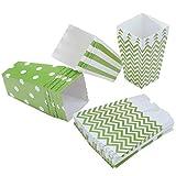 Diealles Popcorn Boxes, 36 Stück Popcorn Tüte Popcorn Candy Boxen Behälter für Party Snacks, Süßigkeiten, Popcorn und Geschenke - Grün