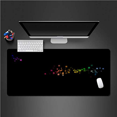 Kleurrijke hemel muismat spel grote blokkering muismat notebook computer toetsenbord mat PC spel natuurlijk rubber pad30 * 80 cm