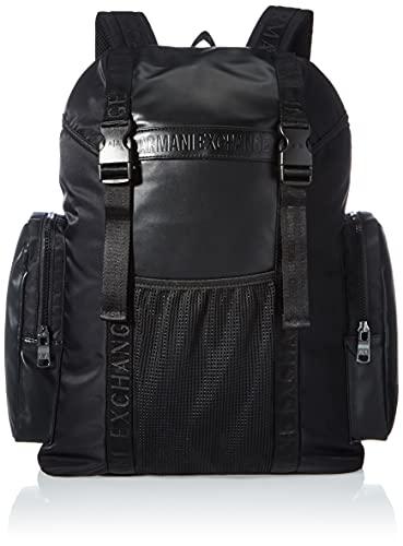 ARMANI EXCHANGE Backpack, Zaino Uomo, Nero, Taglia Unica