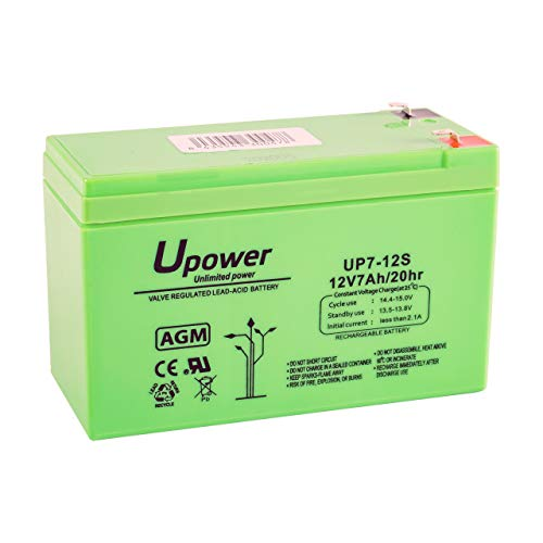 Master U-Power UP - Batería Plomo AGM 7Ah 12V