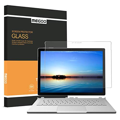 Megoo Screen Protector for Surface Book 2 13.5-inch, Tempered Glass/Easy installation/Scratch resistant/Smooth Touching, Compatible for Microsoft Surface Book 1/2 Only