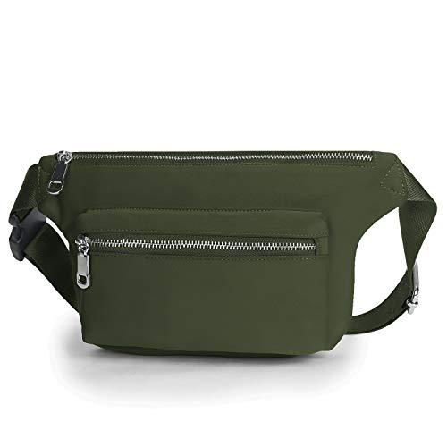 Wind Took Gürteltasche Bauchtasche Multifunktionale Hüfttasche für Reise Wanderung Outdoor Damen und Herren, Grün, 31x6.5x15cm