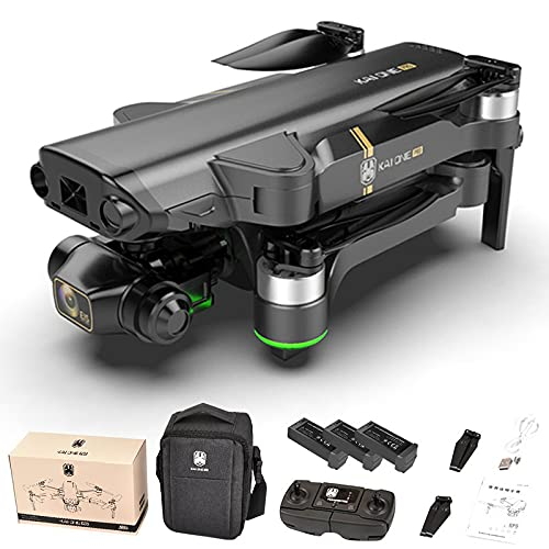 Color Yun KAIONE 8K Camera 3-Axis 5g WiFi FPV GPS 1.2km Long Distance Foldable Drone(Black) 3*Batteries
