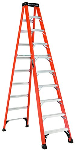 Louisville Ladder 10Foot Fiberglass Step Ladder 375Pound Capacity FS1410HD