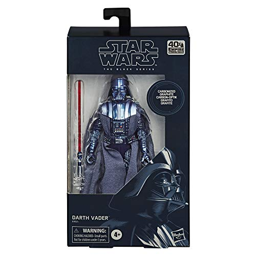Hasbro Star Wars The Black Series Carbon-Kollektion Darth Vader 15 cm große Star Wars: Das Imperium schlägt zurück Action-Figur zum Sammeln