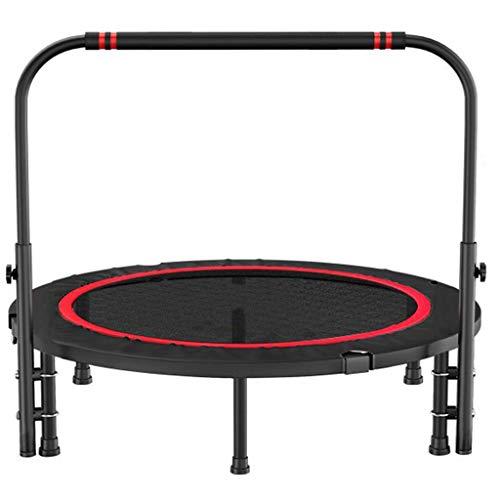 GCZZYMX Colchoneta de salto Rebounder Bouncer Trampolín Cama elástica con reposabrazos Interior Mini dispositivo deportivo de fitness Escultura corporal Bouncer aeróbico para adultos Ejercicio extre
