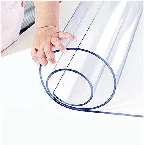 YQJ Mantel Transparente Grueso 1.5mm,Rectangular Impermeable De Plástico Transparente Manteles De Mesa,PVC Mantel Protector Impermeable,100x170cm/39.4x67in