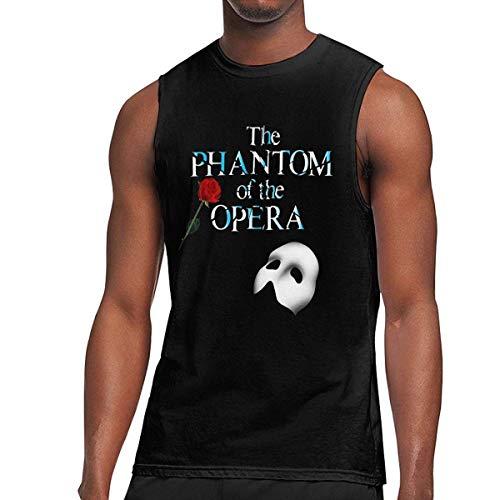 iqingzhongbai Herren 'The Phantom of the Opera Logo Ärmellose Weste T Shirt Muscle Tank schwarz, Trägerloser XXL