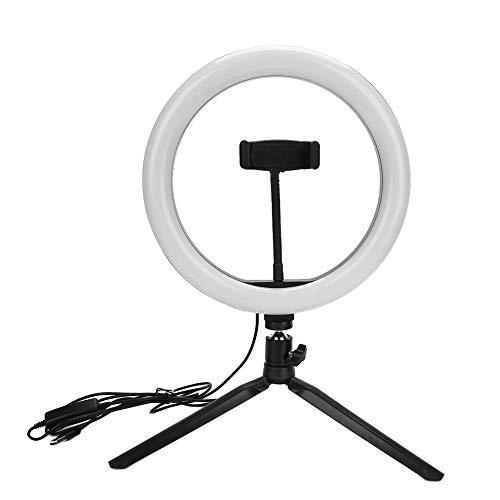 Led-ringlampa, ringljussats med mobilställ LED skrivbordslampa dimbar livestöd selfietatueringskamera