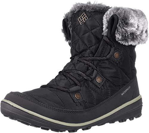 Columbia Women's Heavenly Shorty Omni-Heat Ankle Boot, Black, Kettle, 8 Regular US