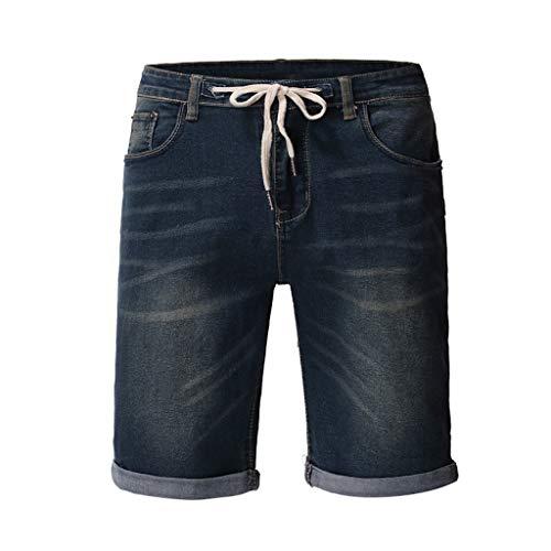IFOUNDYOU Männer Sommer Baumwolle Denim Shorts Mit Abzeichen Loch Casual Shorts Freizeit Ripped Short Jeans