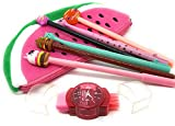 Kwirkythings Fun and Funky Watermelon <span class='highlight'>Stationery</span> Set Gift for Kids, Girls and Boys Pencil Cases, Set of 6 Pens, 3 in 1 Sharpener/Rubber/Brush Set, Back to School Essentials (Pink)