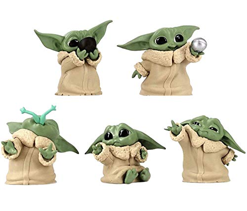 """Baby Yoda Figures The Child Collectible Toys 6cm The Mandalorian """"Baby..."""