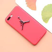 1 piece 3D air jordan For iphone 5 5s se 6 6plus 6s plus 7 7plus X 8 matte Silicone TPU case plating Relief Metal Logo Sports cover