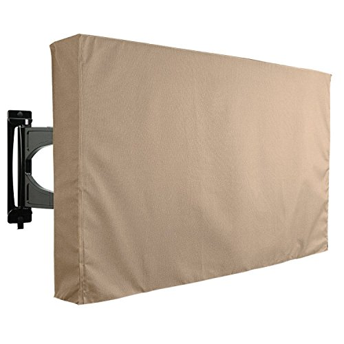KHOMO GEAR Outdoor TV Cover Brown- Universal Weatherproof Protector for 65 - 70 Inch TV - Fits Most Mounts & Brackets