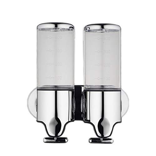 DaoRier Wandmontage Dual Seifenspender Duschgel Shampoo Flüssigseifenspender für Küche Badezimmer (1000ml)
