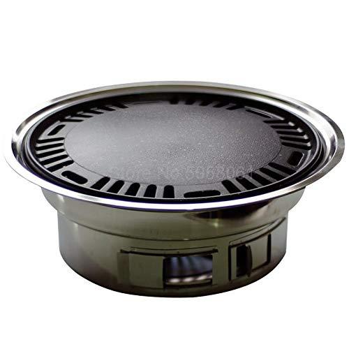 Wyfdm Barbecue Grill, Round Grill Im Freien Holzkohle Voll Edelstahl Korean Smokeless Haushalt Gewerbe Grillpfanne Bratpfanne