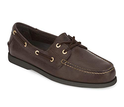 Dockers Men's Vargas Leather Handsewn Boat Shoe,Raisin, 13 M US