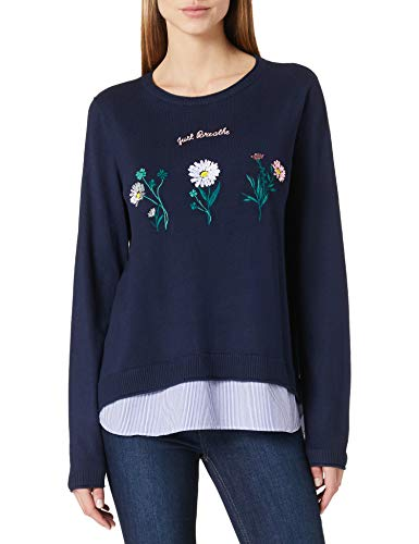 Springfield Jersey Just Breathe Flores Suéter, Azul Medio, XS para Mujer