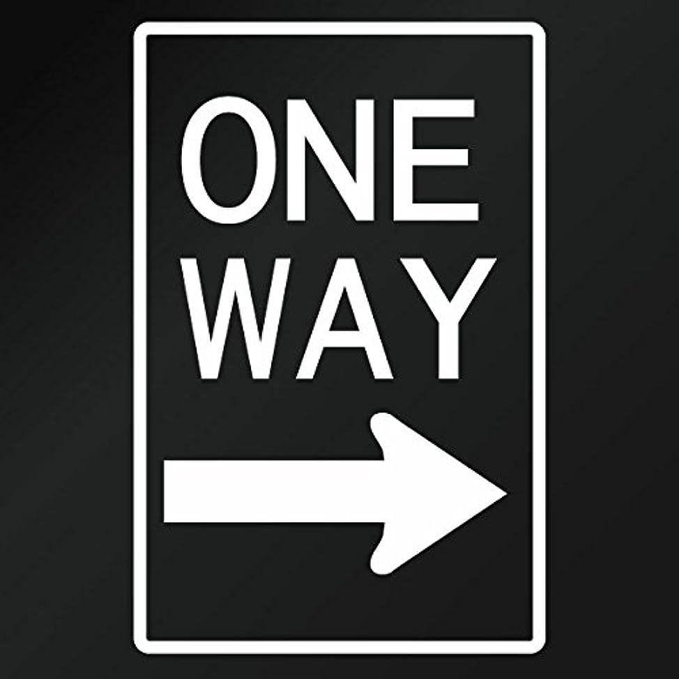 裁定トラクター花嫁【カッティングステッカー アメリカ ワンウェイサイン(道路標識 ONE WAY) ミニサイズ 3枚組 幅約6.5cm×高約10cm】カラー:白(ホワイト)
