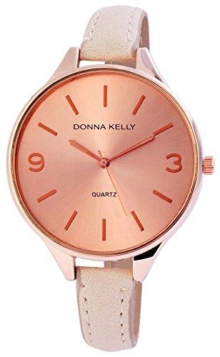 Donna Kelly dameshorloge kunstleer kleur rosé goud trend modern 191035500005