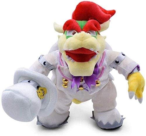 FGBV Plüschspielzeug Super Mario Odyssey Brautkleid Luigi Prinzessin Pfirsich Yoshi Diddy Kong 3D Land Knochen Kuba Dragon Dark Bowser Koopa 35cm Geschenke Sekretärgll Manmiao