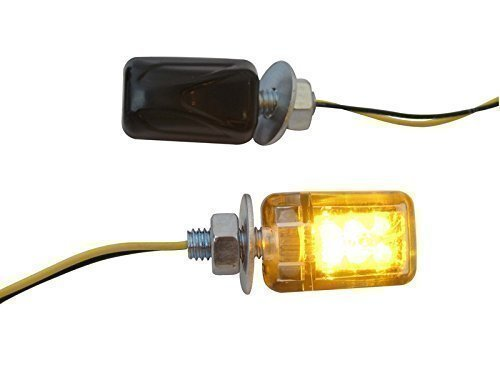 Universal para Moto Marca E Negro Micro Indicadores LED Intermitentes