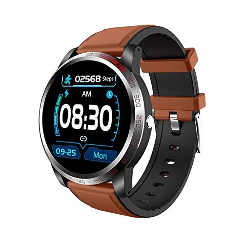 MMFFYZ Reloj Inteligente HD De 1.3 Pulgadas, Monitor De Ritmo Cardíaco, Reloj Inteligente Rastreador De Ejercicios, Impermeable, IP68 Android iOS, Bluetooth Llamada, Pulsera Inteligente(Color:A)