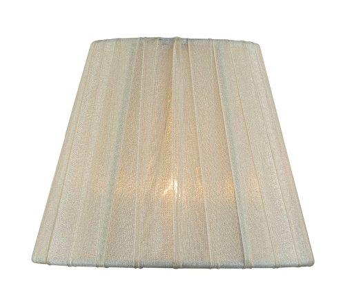 Lite Source ch5207–5Lampenschirm, Cremefarben Bundfaltenhose, Textil, cremefarben, 6-inch