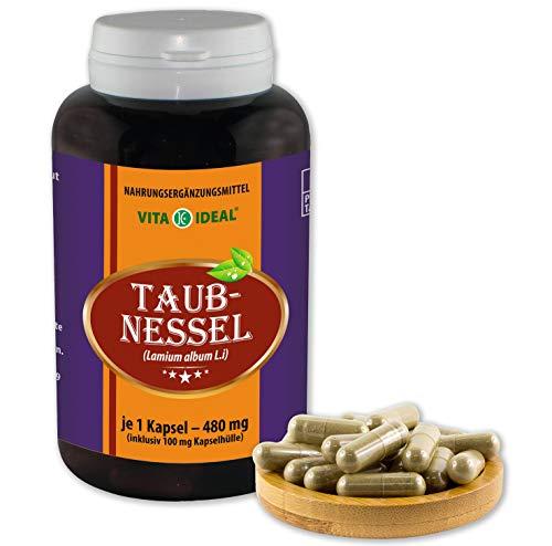 VITA IDEAL ® Taubnessel (Lamium album L.i) 180 Kapseln je 480mg, aus rein natürlichen Kräutern, ohne Zusatzstoffe