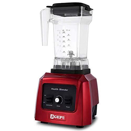 ALK Licuadoras para Verduras y Frutas, Extractor de Jugos Libre de BPA, con Base Antideslizante, 23000 RPM.(1.5L, Mecánica),Rojo