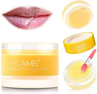 Lip Care Mask, Orange Overnight Exfoliating & Moisturizing Repairing Lips Mask, Sleeping Lip Balm, Lip Primer, Lip Scrub M...