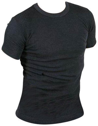 Hommes Sous-vêtements thermiques Tee shirts manches longues (Large, Gris)