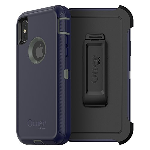 OtterBox DEFENDER SERIES SCREENLESS EDITION Case for iPhone Xs & iPhone X - Retail Packaging - STORMY PEAKS (AGAVE GREEN/MARITIME BLUE)