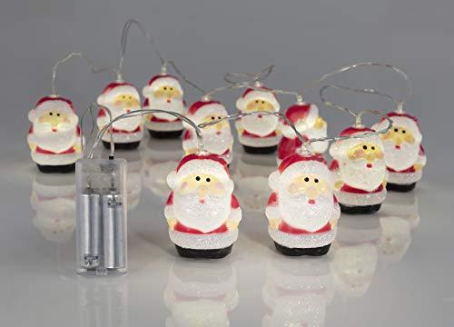 Wetekom LED Mini Lichterketten Weihnachtsmann