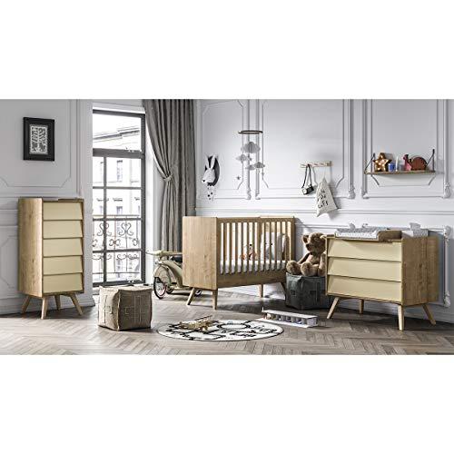 Cama bebé dormitorio completo 60x120 - cambiador - Vox Vintage Chiffonier - Madera beige