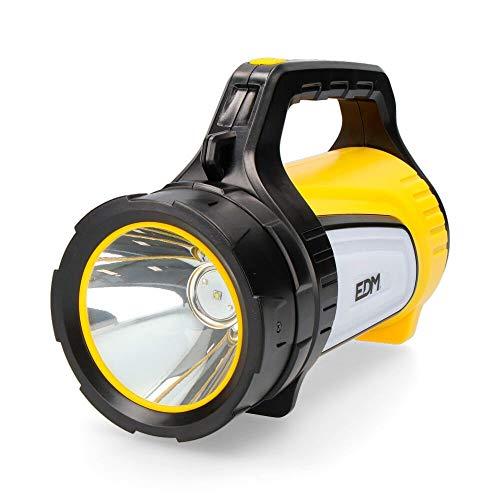 EDM Lampe Torche Multifonction Portable avec LED Rouge et Power Bank 350 lumens Jaune 0