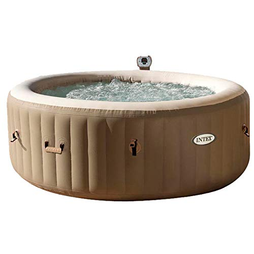 wwl Aufblasbarer Whirlpool,Aufblasfunktion Per Knopfdruck Bubble Spa Wellness Massage,Outdoor - Inkl.120 DüSen ,Pool Aufblasbar ,Beheizter Pool,Brown