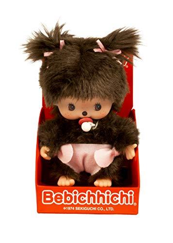 Monchhichi Classic Bebichhichi Plush Toy - Girl with Diaper