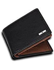 Urban Forest Kyle RFID Blocking Black/Redwood Leather Wallet for Men