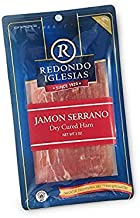 Jamon Serrano - Sliced 3 oz - Redondo Iglesias - 15 months aged dry cured ham - Spain Gourmet Delicatessen