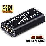 ELEVIEW HDMIリピーター HDMI中継器 4K/60Hz HDR対応 18Gbps HDMI2.0・HDCP2.2対応 hdmi 中継 アダプター 信号増幅 イコライザー hdmiブースター EHD-605N