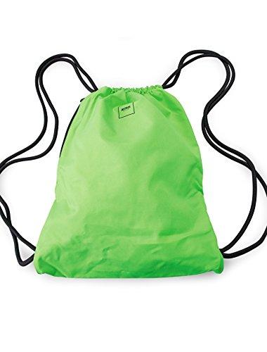 MSTRDS Unisex Basic Gym Bag Rucksack neon green One einfarbiger Turnbeutel im Hipster Stil